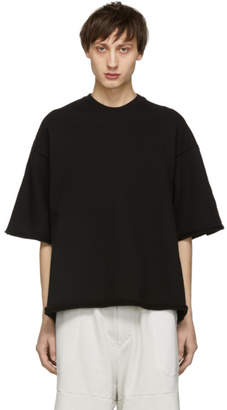 Julius Black Wide Distressing T-Shirt