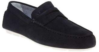 Armani Jeans New Mens Blue Driving Shoe Suede Shoes Lace Up