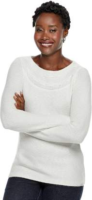Croft & Barrow Women's Textured Boatneck Sweater