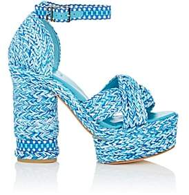 ANTOLINA Women's Aurora Cotton Platform Sandals - Turquoise
