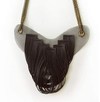 Motley Collections Graphite Drape Necklace