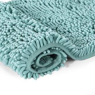 H.VERSAILTEX Microfiber Bath Rugs Chenille Floor Mat Ultra Soft Washable Bathroom Dry Fast Water Absorbent Bedroom Area Rugs