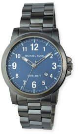 MICHAEL Michael Kors 43mm Paxton Bracelet Watch, Gray/Blue