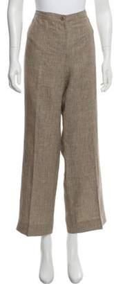 Armani Collezioni Printed Mid-Rise Pants Brown Printed Mid-Rise Pants