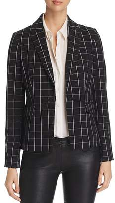 Karl Lagerfeld Paris Windowpane Print Blazer