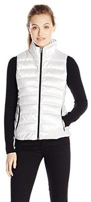 Calvin Klein Jeans Women's Metallic Puffer Vest $102.40 thestylecure.com