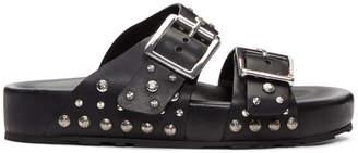 Alexander McQueen Black Studded Strap Sandals