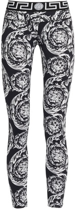 VERSACE Baroque-print performance leggings $450 thestylecure.com