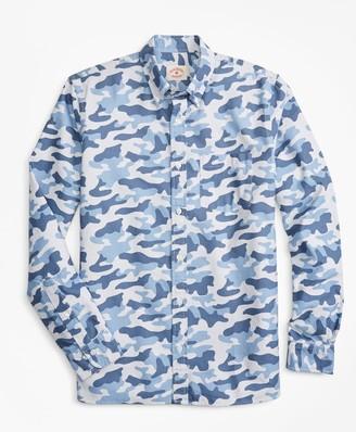 Brooks Brothers Camo-Stripe Cotton Oxford Sport Shirt