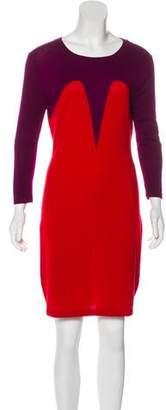 Markus Lupfer Wool Knee-Length Dress