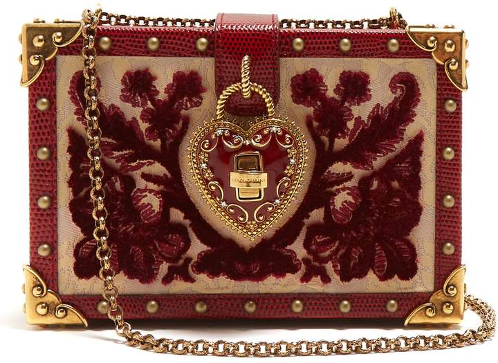 DOLCE & GABBANA Brocade velvet box bag