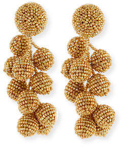 Sachin + Babi Coconut Beaded Clip Earrings