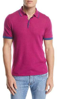 Etro Contrast Knit Polo Shirt