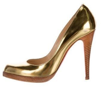 Christian Louboutin  Christian Louboutin Metallic Semi-Pointed Pumps
