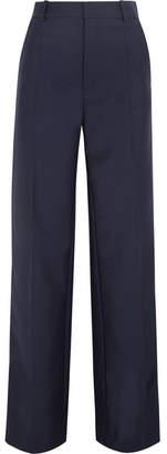 Ferdy Wool And Mohair-blend Wide-leg Pants - Navy Joseph lhzILRee