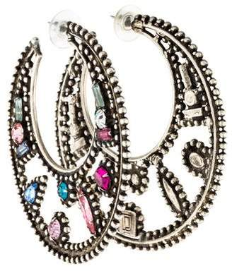 Dannijo Crystal Kalila Hoop Earrings