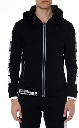 Frankie Morello Black Cotton Joaquin Sweatshirt With Prints