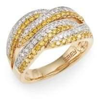 Effy Yellow & White Diamond, 14K Yellow & White Gold Ring