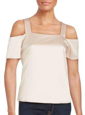 Collective Concepts Solid Cold Shoulder Top
