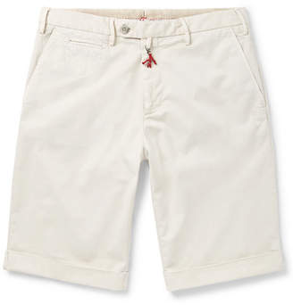 Isaia Slim-Fit Stretch-Cotton Twill Shorts