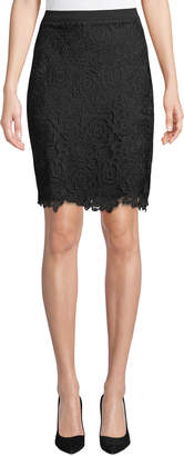 Karl Lagerfeld Paris Floral Lace Pencil Skirt