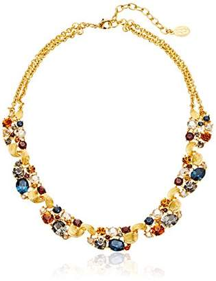 Swarovski Ben-Amun Jewelry Arabian Nights Crystal Station Gold Necklace