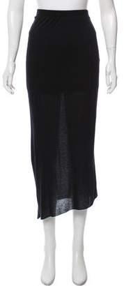Helmut Lang Gathered Midi Skirt w/ Tags