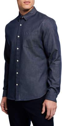 Vince Men's Long-Sleeve Chambray Sport Shirt