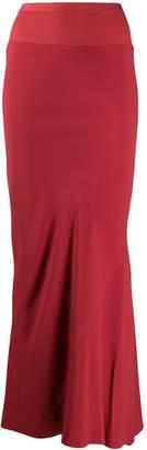 Rick Owens frill-trim maxi skirt