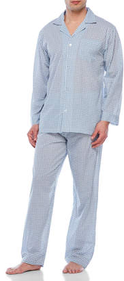 Geoffrey Beene Two-Piece Check Pajama Set
