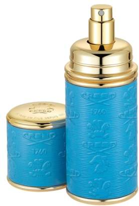 Creed Blue with Gold Trim Leather Atomizer