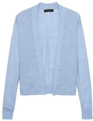 Banana Republic Machine-Washable Merino Cropped Open Cardigan Sweater
