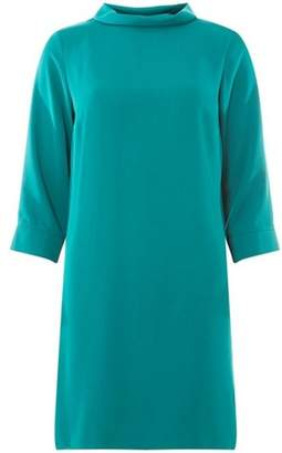 Dorothy Perkins Womens Teal Blue Roll Neck Shift Dress