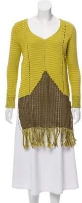 Lemlem Fringe-Trimmed Crochet Sweater w/ Tags