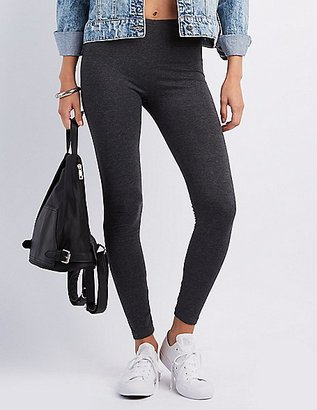 Solid Stretch Cotton Leggings $8.99 thestylecure.com