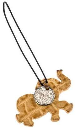 Bottega Veneta Crocodile Elephant Phone Charm