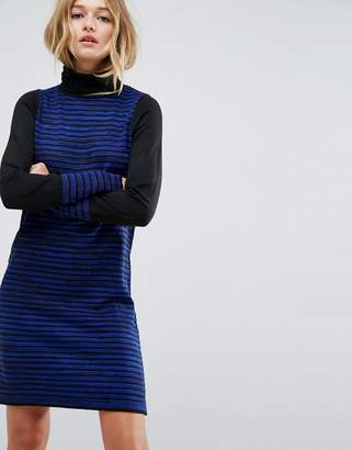 Asos Knitted Mini Dress in Stripe