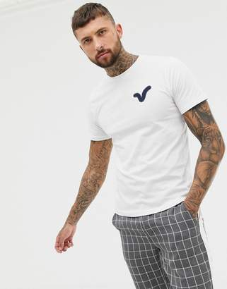 Voi Jeans Applique Swirl Logo T-Shirt In White