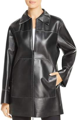 Lafayette 148 New York Christopher Leather Mid-Length Jacket