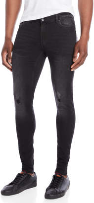 Cheap Monday Black Spray-On Mid-Rise Skinny Jeans