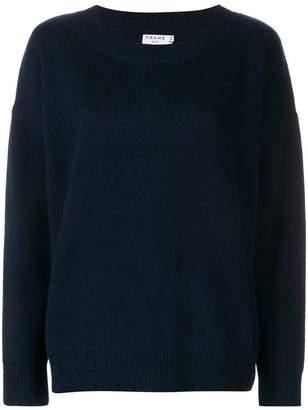 Frame Navy Blue cashmere Le Boy sweater