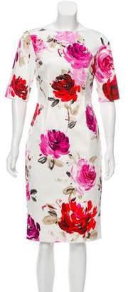 Lela Rose Claire Floral Print Dress