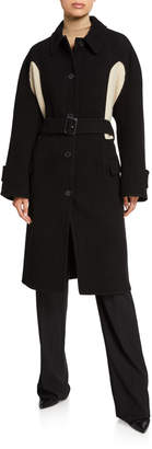 J.W.Anderson Wool-Cashmere Sweater-Inset Coat