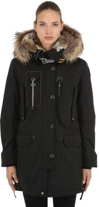 at LUISAVIAROMA · Parajumpers Kodiak Nylon Down Parka W/ Fur