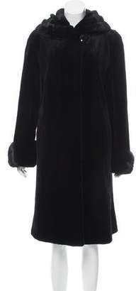 Neiman Marcus Long Sheared Mink Fur Coat