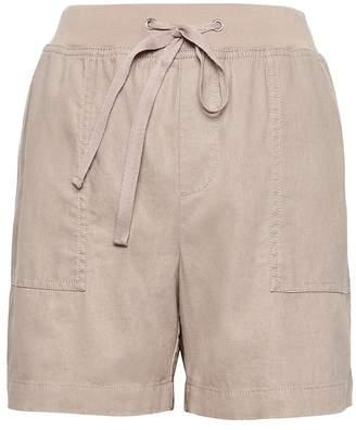 "Banana Republic Petite Soft Linen-Cotton 5"" Pull-On Short"