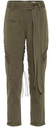 Saint Laurent Cotton and linen trousers