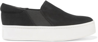 Vince - Warren Suede Slip-on Sneakers - Black $225 thestylecure.com
