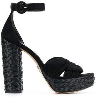bb6a07c725b Prada Block Heel Women s Sandals - ShopStyle