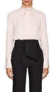 Valentino Women's Button-Detail Silk Blouse - Pink